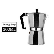 NewAluminum кофейник прочный Moka Cafeteira Expresso Percolator Pot практичный Moka Coffee Pot 50/100/150/300/450/600 мл Top(Китай)
