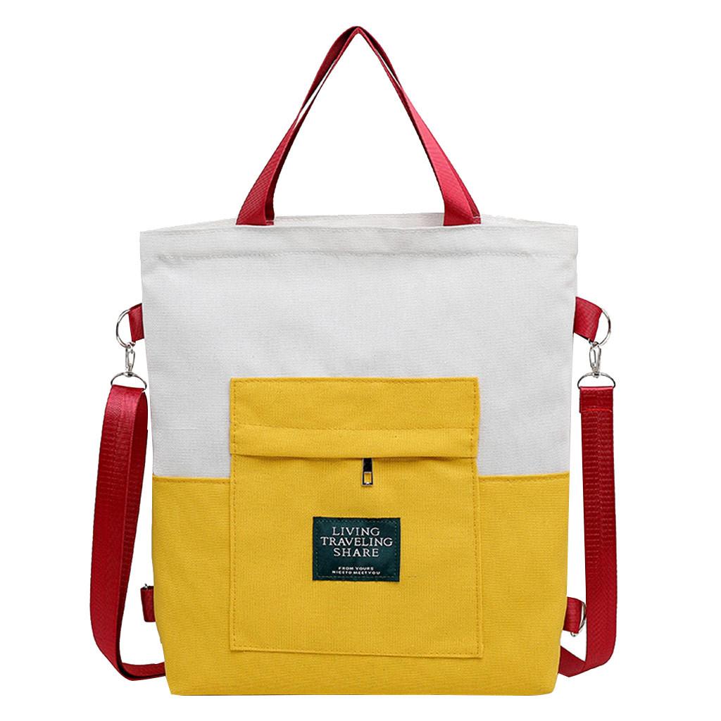 Женская сумка на плечо, Брезентовая, большая вместительность, Студенческая школьная сумка, сумка, уличные спортивные сумки через плечо для ...(Китай)