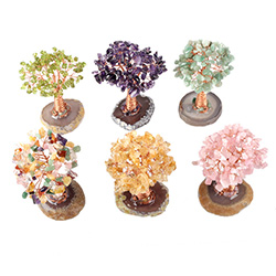Natural Wholesale Decorative Golden pig Pot Citirine Quartz Crystal Drop Money Tree For Christmas Gift