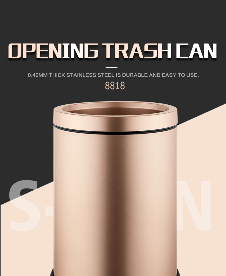 wholesale Standard size indoor stainless steel trash receptacles