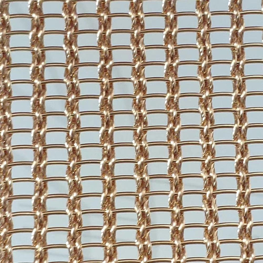 Stainless steel and copper woven metal fabric, Glass Laminated Wire <strong>Mesh</strong>