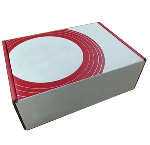 Rigid Strong Corrugated Cardboard One Piece Custom Printing Both Sides Packaging White Box