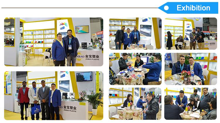 JINBAO ייצור מחיר 3mm 8mm 4ft x 8ft בדוגמת שקוף ברור צבע פרספקס גיליון