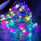 Rgb Led String Lights Copper Led String Light Newish 100 Bulbs 10M 33Ft RGB Waterproof Flexible Christmas Holiday LED Fairy Copper Wire Led String Lights With Remote Control