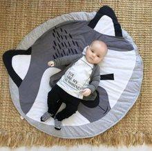 Мультяшные животные детские игровые коврики коврик для малышей Дети Ползания одеяло круглый ковер игрушки коврик для детской комнаты деко...(Китай)