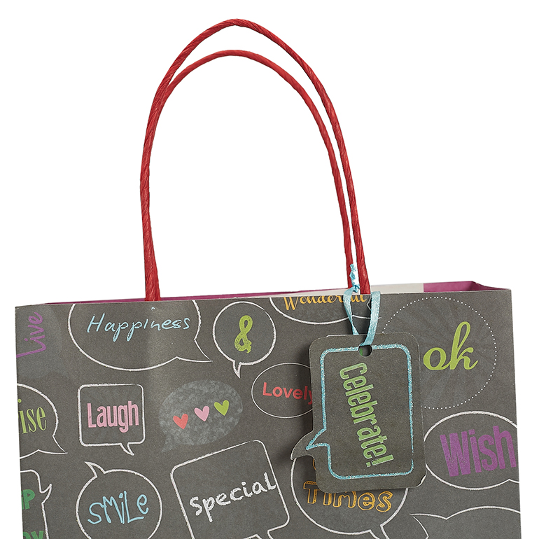 Trendy Custom Logo Shopping Bags With Glitter, Beautiful Personalized Gift Packing Paper Bags