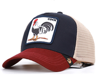 In stock Wholesales custom high quality applique baseball cap trucker animal mesh branded hats