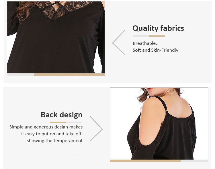 New Design Women's Lace Plus Size Blouse, On Sell Plus Size Blouse Tops For Fat Ladies.