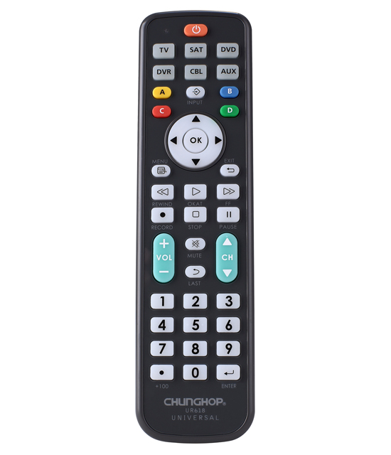 Cunghop UR618 Universal Remote Control TV with operation 6 devices with 1 remote