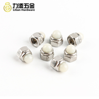 DIN1587 steel galvanized nylon cap nut