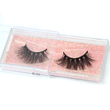Wholesale Private Label Mink Eyelashes Natural False Eyelash Vendor 100% Real 3d Mink Lashes E11