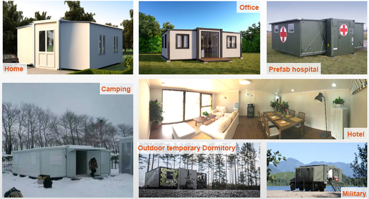 Expandable container house project