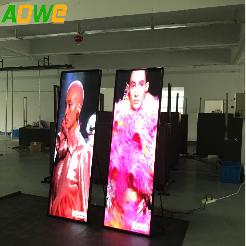 P3 Full Color Video display indoor LED Display Stand Poster LED <strong>Screen</strong> Mirror <strong>Portable</strong> <strong>screen</strong>
