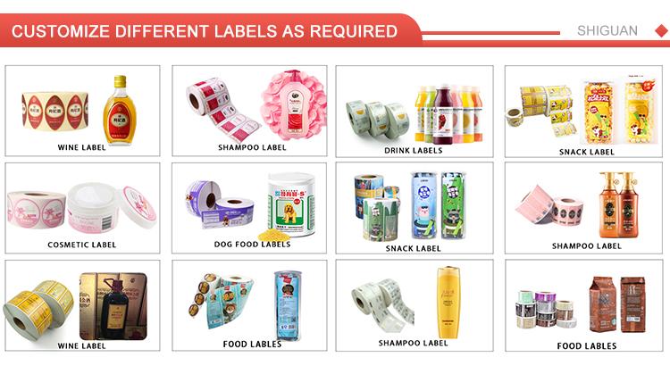 Personalizado PP etiqueta engomada del vinilo de impresión de rollo de adhesivo botella de jugo botella de etiquetas de bebidas etiquetas de embalaje