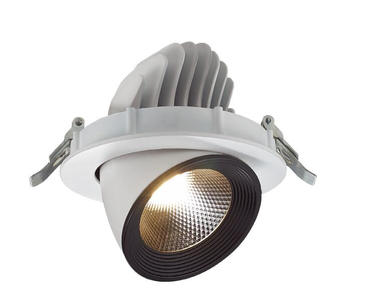 Round cut-out 150mm led down light Aluminum Body Spot Light 25W 30W 35W Adjustable Wall washer <strong>downlight</strong> LED Recessed Down Light