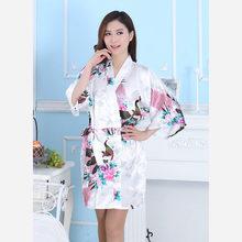 Японский традиционный фестиваль кимоно для женщин дизайн Павлин Косплей юката костюмы сексуальные атласные винтажные вечерние пижамы(Китай)
