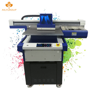 Aily group new arrival 3 head flatbed 6090 uv printer for sale