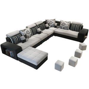 Living+room+sofas u-shape sectionals sofa set 7 seater for home furniture Gray/Grey