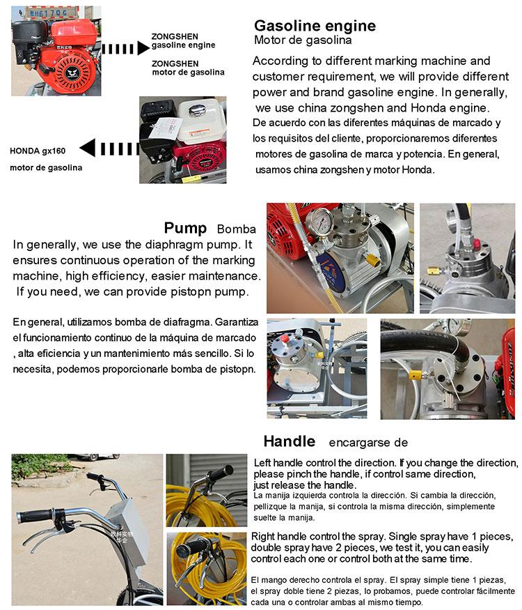 CE מעולה באיכות הטובה ביותר אוטומטי קר צבע תרמופלסטיים כביש סימון מכונות מחיר למכירה