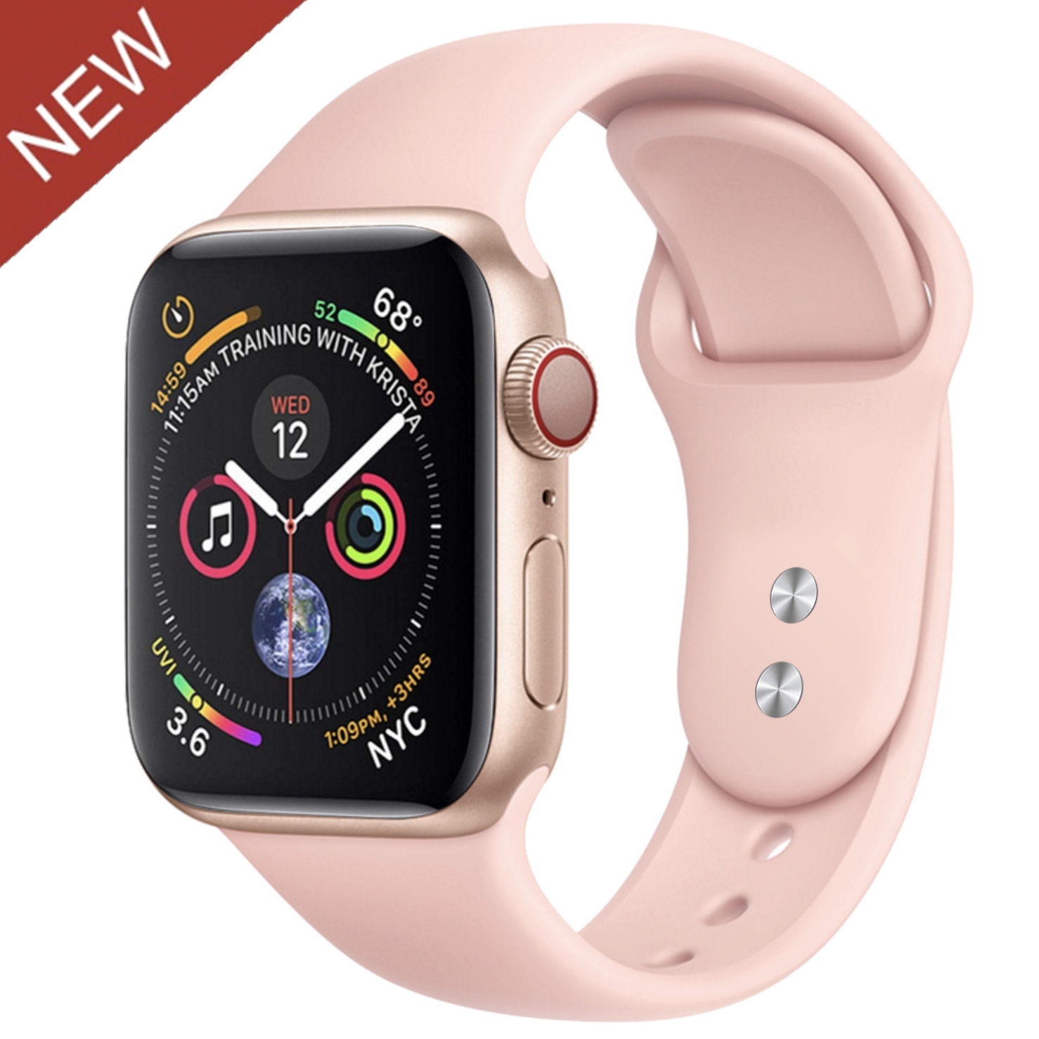 Sport Rubber Siliconen vrouwen band iwatch apple horloge serie 5/4/3 pols applewatch band strap voor apple horloge band apple fabriek