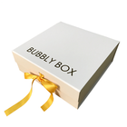 High quality luxury custom flap gift box with ribbon