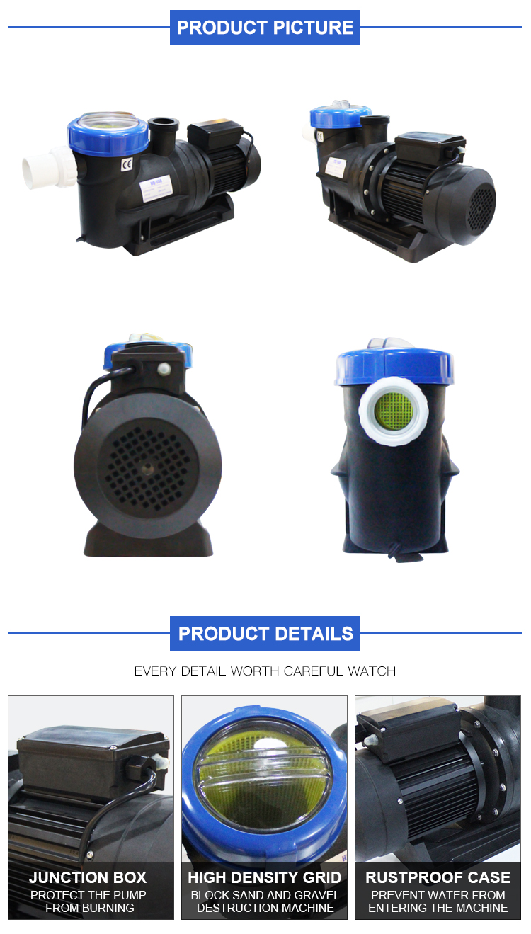 Factory Best Price High Pressure Pool Equipment Inground Pool Pumps For Water Treatment