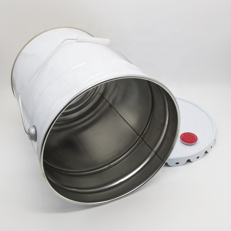 20L metal tin pail with lid and handle for paint use