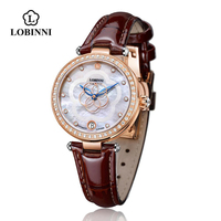 LOBINNI 2008L Custom Logo womens watches Leather Wristwatches Watch Women Multi Colors Montre Femme Fashion Ladies Watches