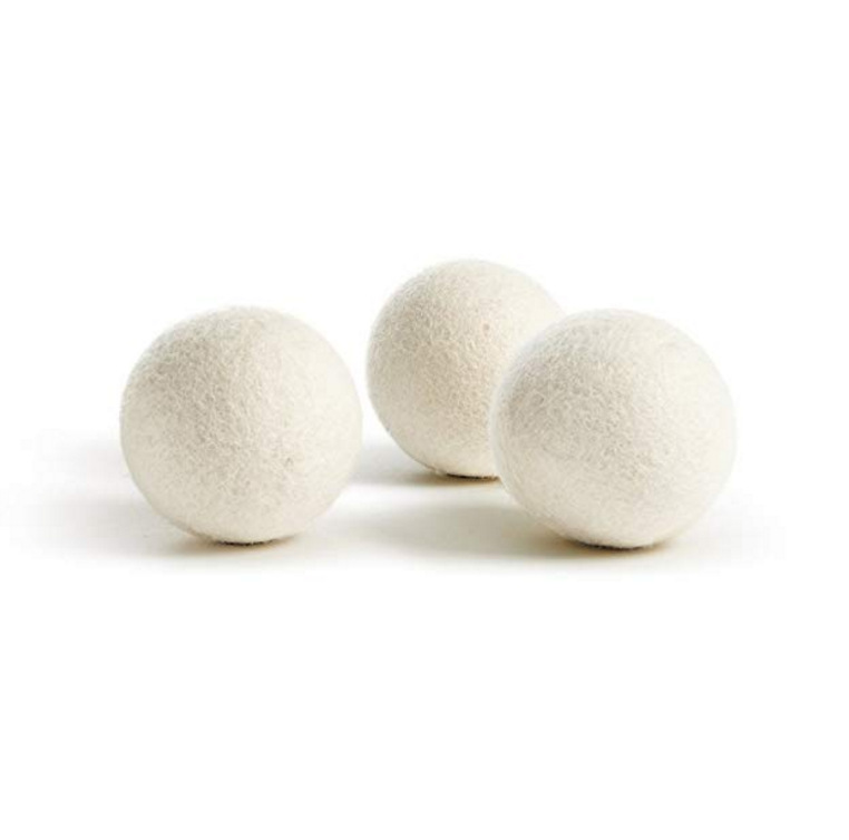 Reusable Wool Dryer Balls white grey felt wool laundry balls