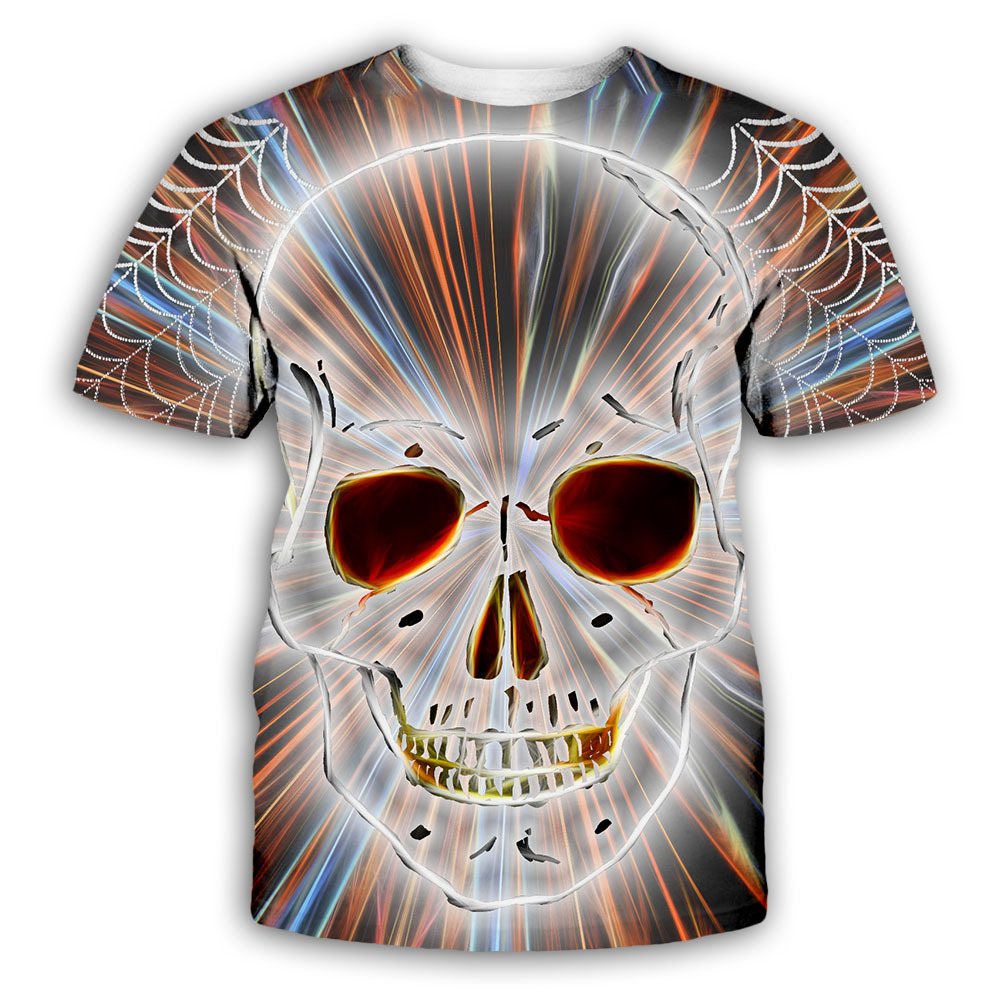 Full Flower&Girly Skull 3D Print t shirt Men Women tshirt Summer Funny Short Sleeve O-neck Tops&Tees фото
