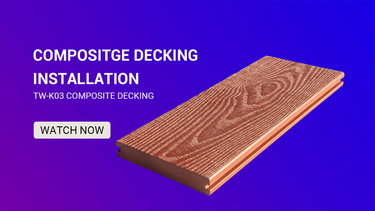 China 3D Embossing Waterproof Solid Wood Plastic Composite Decking