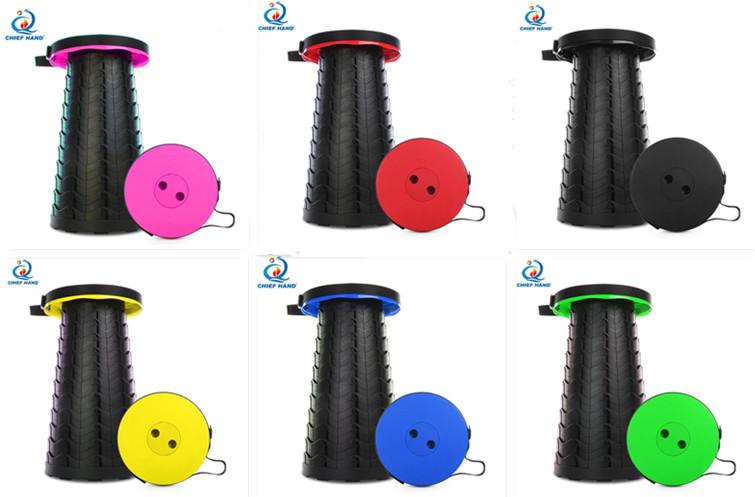 Телескопический складной табурет портативный пластиковый табурет для путешествий на открытом воздухе портативное сиденье Регулируемая подставка для ног