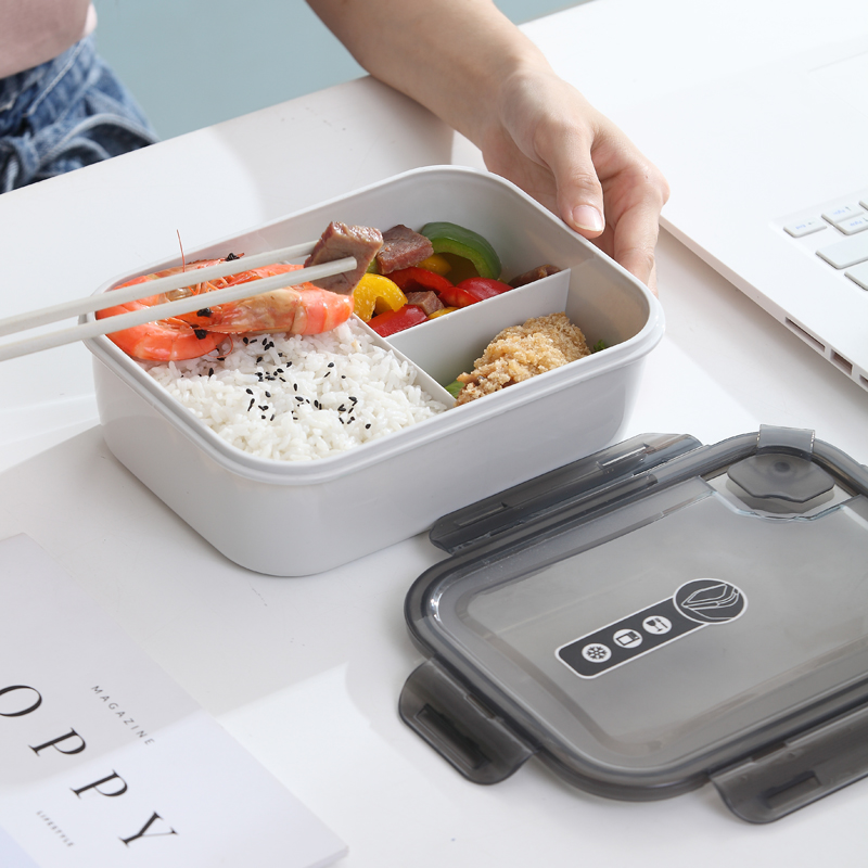 Microwaveable 음식 용기 3 구획 플라스틱 도시락 상자