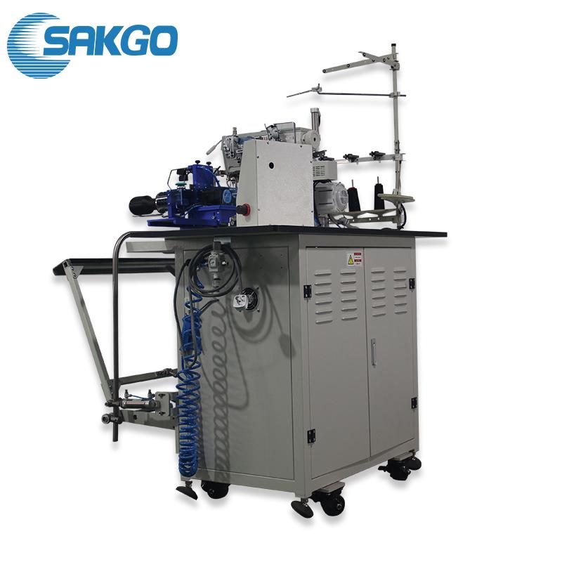 SK1128 SAKGO industrial máquina de costura automática camiseta bainha Inferior da máquina