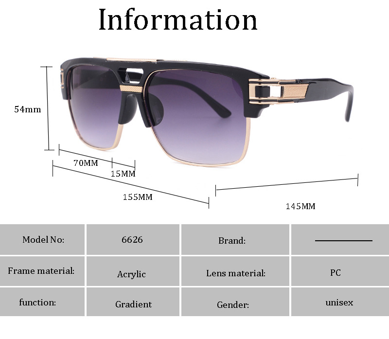 Popular sale gallant style men women resin retro vintage oversized square sunglasses