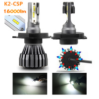 Super Bright 8000 Lumen 60w H11 H4 H7 Led, Auto COB CSP H1 H3 HB3 HB4 9005 9006 H11 K2 Car h4 H7 LED Headlights