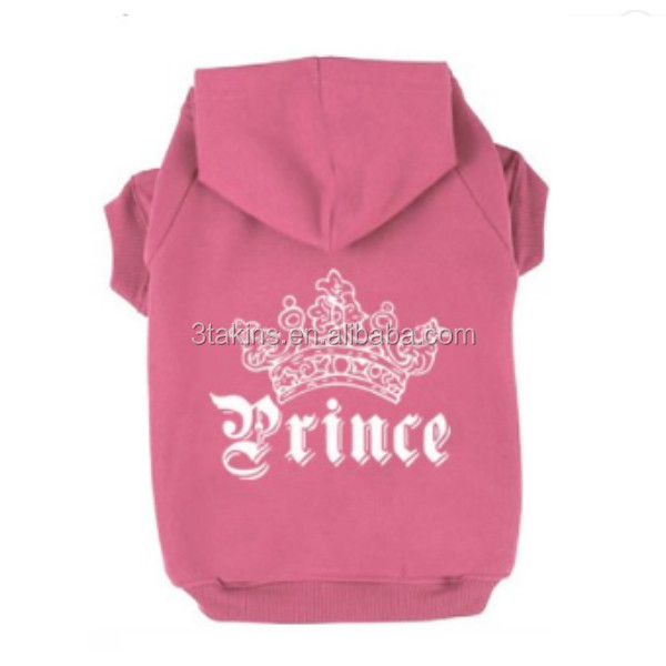 Wholesale Pet Apparel Custom Prince Crown Pet Dog Cat Hoodie for dogs