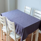 Factory Direct Table Linen Cloth Rectangular Stain-Resistant Tablecloth