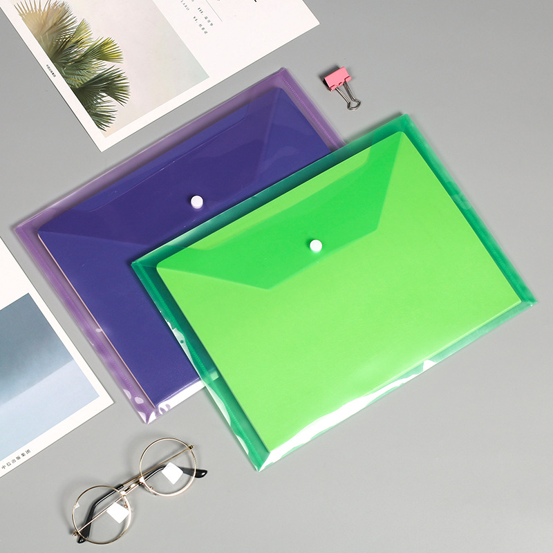 PVC Document stationery clear cover report file folder Transparent a4 size plastic report cover with slide bar