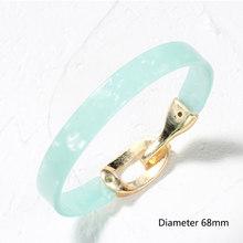 Женский акриловый браслет в стиле бохо, Леопардовый Открытый Браслет-манжета из смолы, винтажный ювелирный аксессуар(Китай)