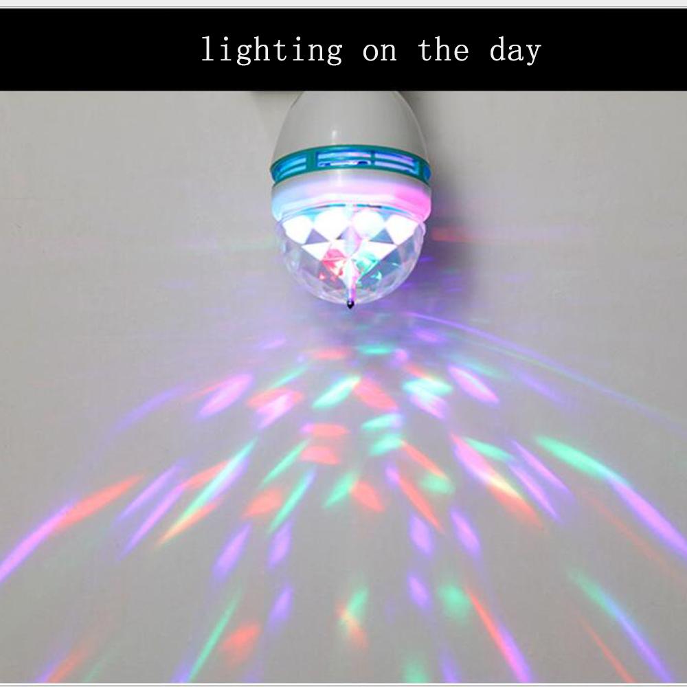 3 Вт меняющий цвет хрустальный шар эффект DJ светильники для диско LED Авто вращающийся сценический светильник