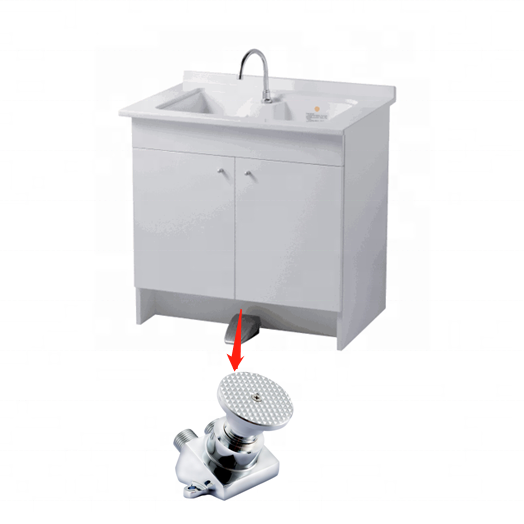 Foot Pedal Flush control operated medical valve with spout grifo torneira valvula pedal
