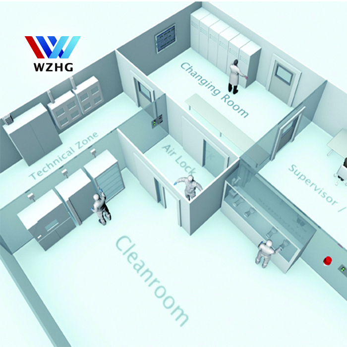 No dust prefabricated dust free room portable clean room and sanitizer cleanroom exterior sandwich panels for sale