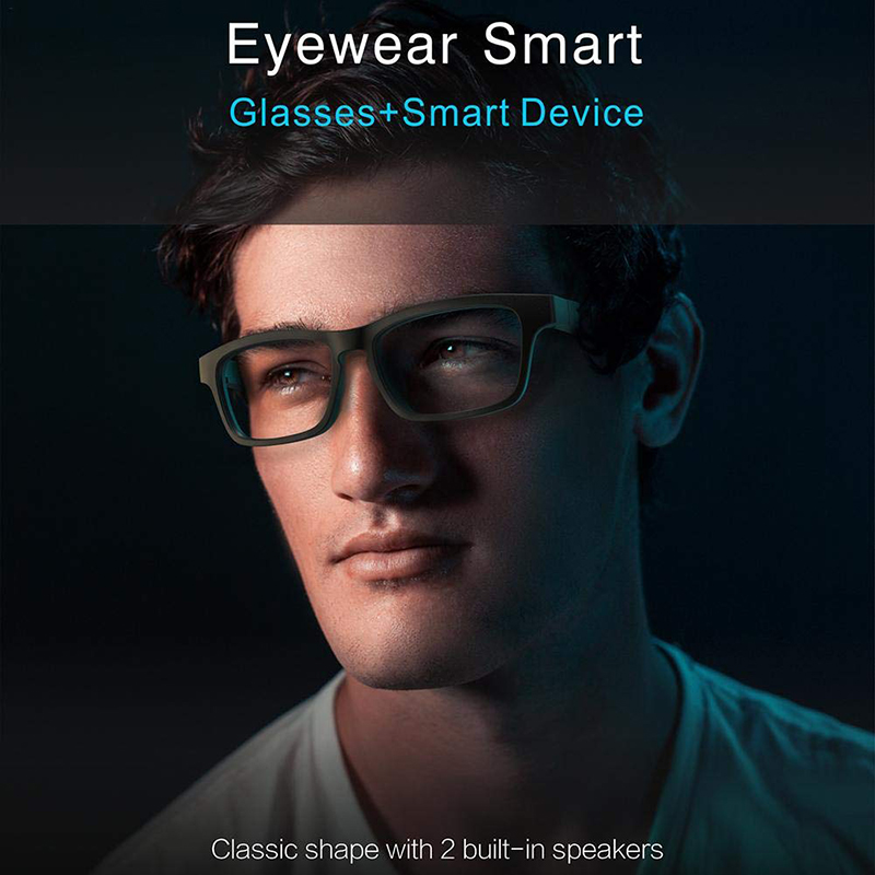 2020 NEW Arrival Smart Anti Blue Anti UV Bluetooth Eye Glasses with colorful Frame ,Sunlight Glasses with Call Function for Man