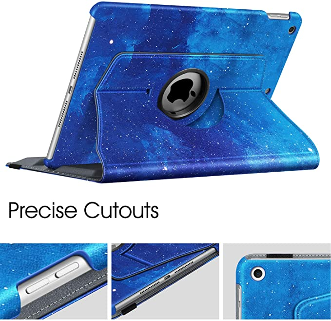 The seventh generation [built-in pen holder] 360 degree rotating protective cover, Suitable for iPad 10.2 tablet
