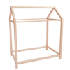 Wholesales New Zealand Pine Wood Baby Clothes Rack Customized Wooden Clothing Display Shelf For Kids Room
