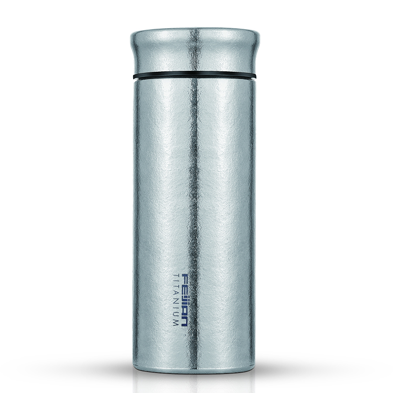Feijian Titanium Termos 420 Ml Pure Titanium Vacuum Flask Ultralight Mewah Bakterisida Termos dengan Tutup