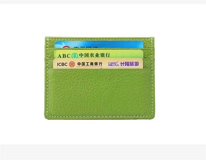 AL386 Hot Sales Genuine Leather Credit Card Holder Wallet For Gift
