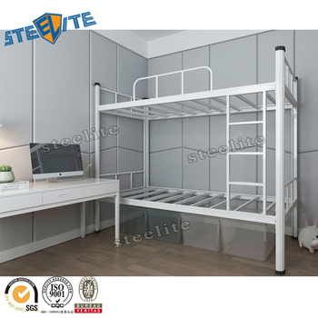Small Space White Metal Twin Over Twin Bunk Bed Buy Twin Bunk