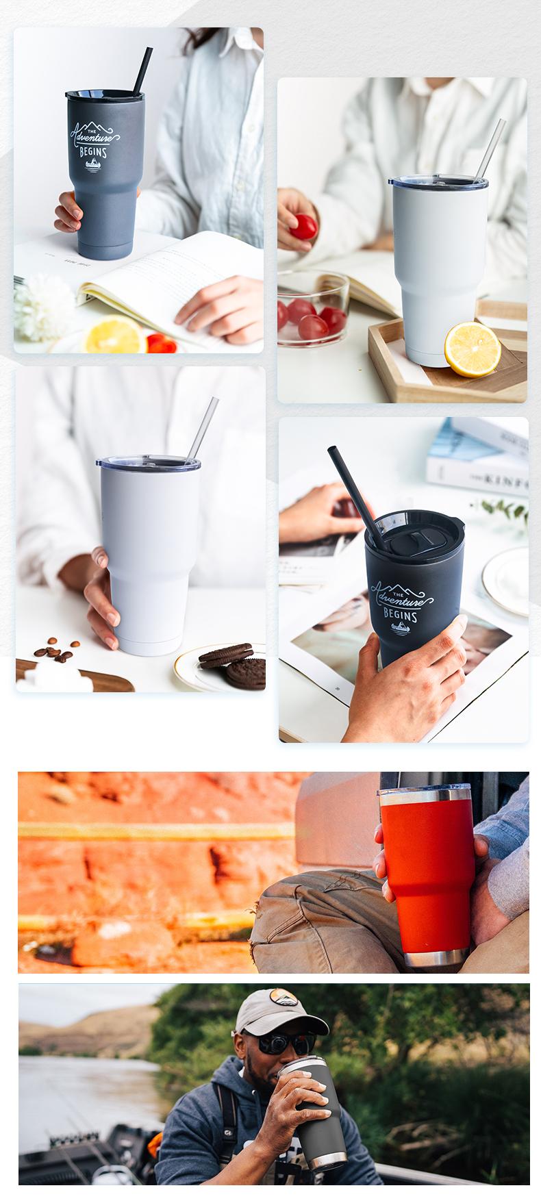 THERMOS กาแฟถ้วยแก้วที่กำหนดเองโลโก้เปล่าแก้วระเหิด THERMOS